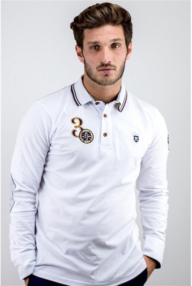 "Polo blanc ""COURCH"""