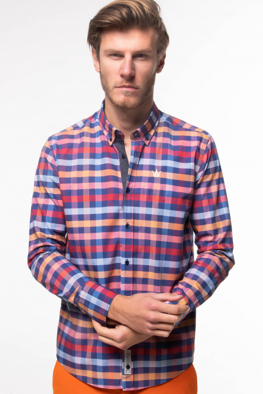 Chemise flannel - Orange