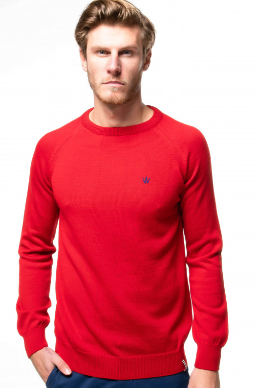 Pull serge - Rouge