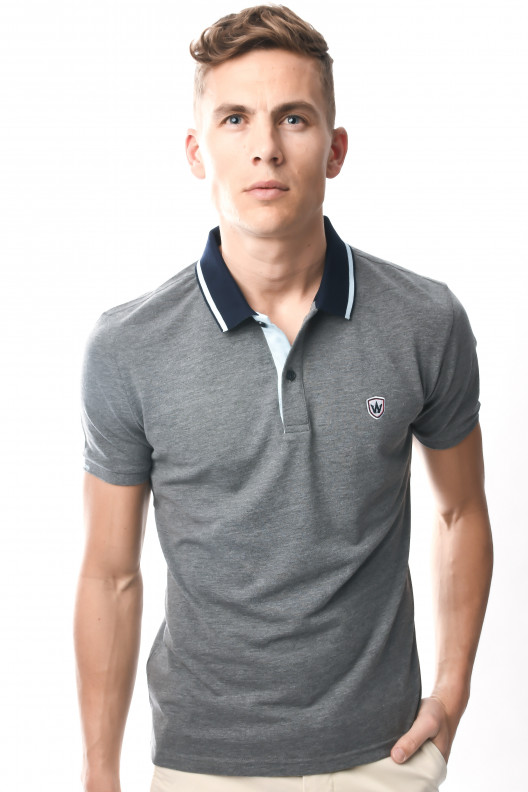 Polo panama - GRIS ANTHRACITE