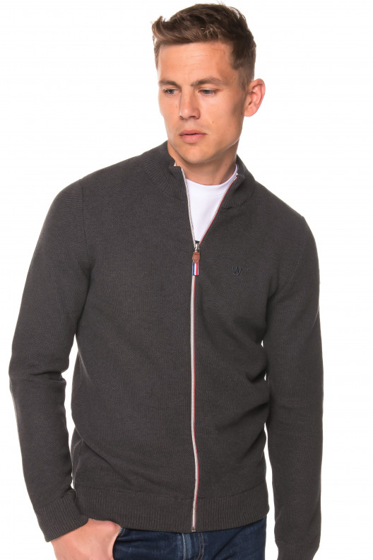 Pull veste pascal - GRIS ANTHRACITE